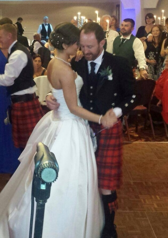 wedding band playing first dance in bearsden glasgow