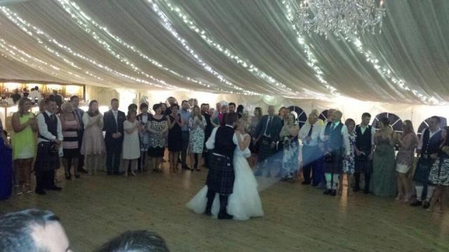 daytura wedding band playing at wedding in glasgow marquee