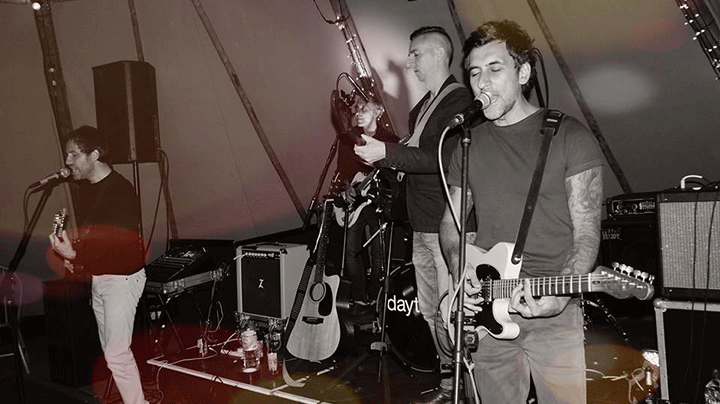 daytura perform live for a wedding party
